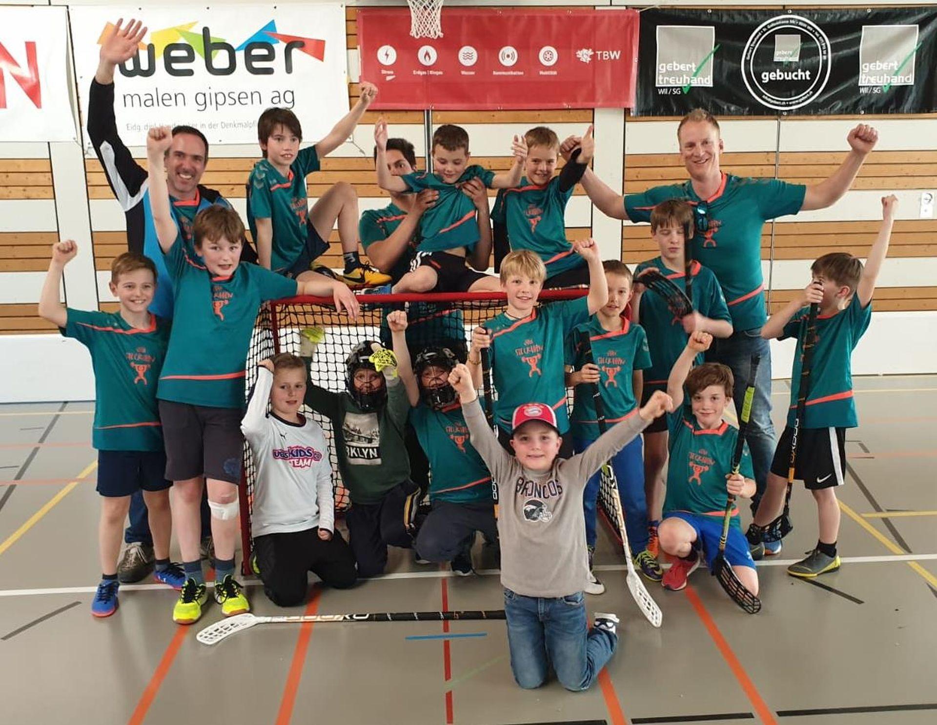 Zwei Podestplätze für Jugi Steckborn am Unihockeyturnier in Wil